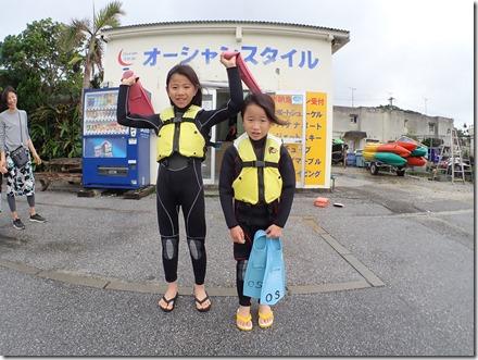 ☆彡小さい姉妹☆彡のシュノーケリングツアー!!!